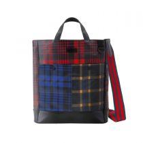 Frequent Flyer Oxford Pocket 手提包 - Scottish Tartan And Bengal Stripe Multi 3 Color