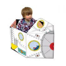 Miles Kelly - 可折疊立體變形紙板玩具書:變形太空飛船