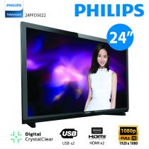 "Philips - 24"" Full HD Ultra Slim LED Smart TV 24PFD5022 No Free Installation 24PFD5022"