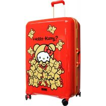 "Hello Kitty Travel Collection 29"" 4 wheels frame luggage (Red) KT3030FTRD"