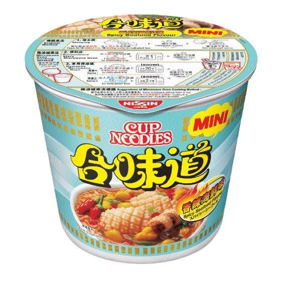 日清 - 合味道迷你杯麵香辣海鮮味[原箱] 1002-001-104