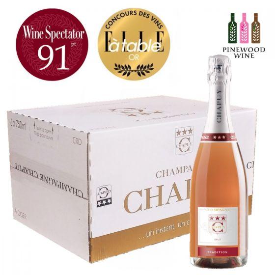 (原箱) Brut Rose 查普王玫瑰香檳 WS 91 750ml (6支)