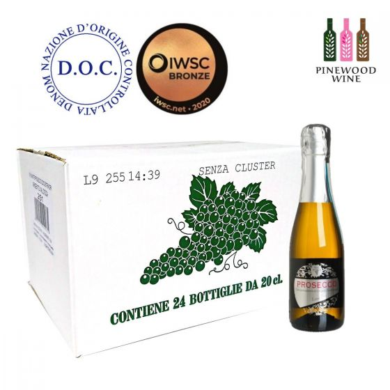 Val d'Oca - [原箱] BIRILLINI ARGENTO Prosecco DOC Millesimato Extra Dry 意大利法定產區單一年份微甜氣泡酒 200ml X 24