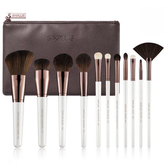 SIXPLUS 優雅系列11支珠光白化妝掃套裝