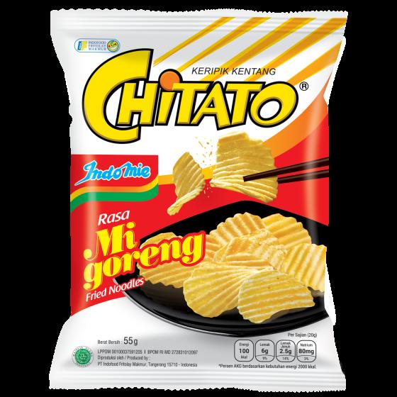 CHITATO 即食薯片 - 營多撈麵味 (55克) (4包)