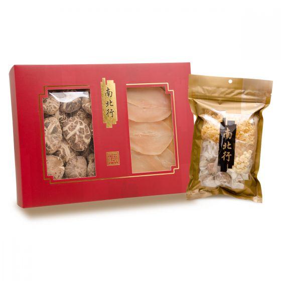 南北行 - 冬菇及螺片禮盒 (送雪耳椰片清潤湯) 60B012