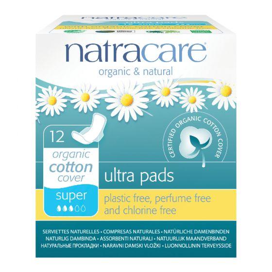 Natracare 有機棉超薄護翼衛生巾 (26cm 日用量多/ 夜用型, 12片獨立包裝)