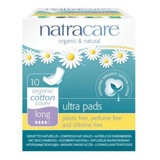 Natracare 有機棉超薄護翼衛生巾 (31cm 夜用量多型, 10片獨立包裝)