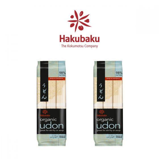 Hakubaku - 日本Hakubaku 有機烏冬 270克 2包裝