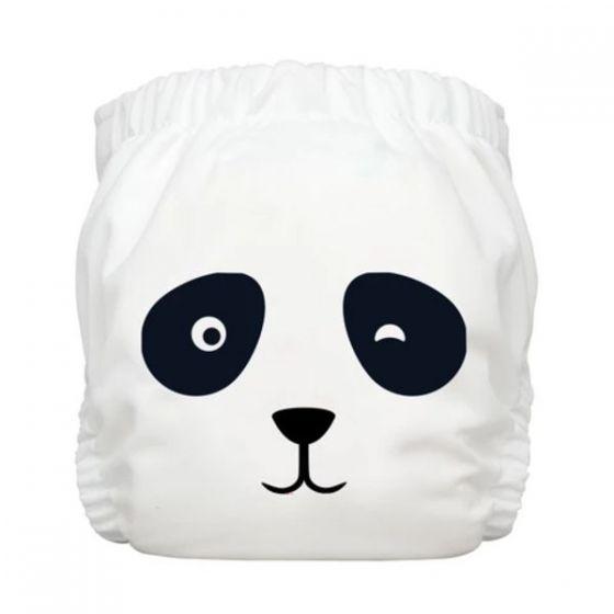 Charlie Banana® 1條裝2條片芯多功能均碼尿布 - Panda White 888072