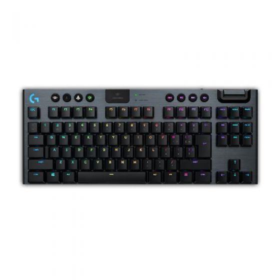 Logitech - G913 TKL 無數字鍵台 LIGHTSPEED 無線 RGB 機械式遊戲鍵盤 (青軸) 920-009540