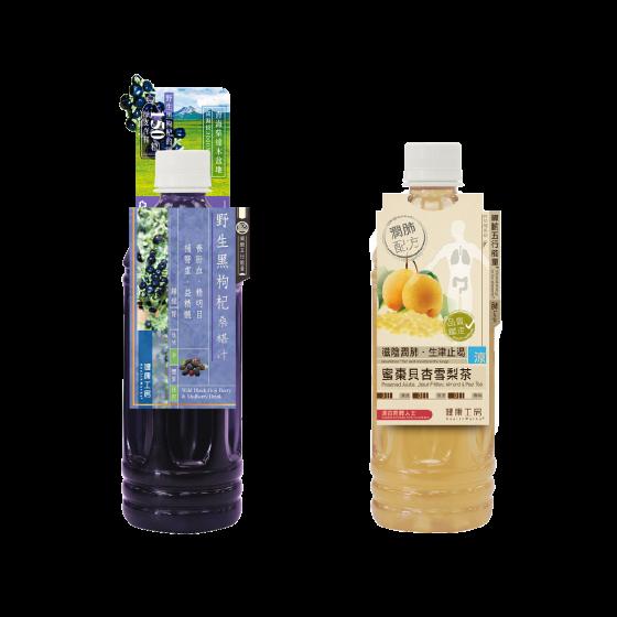 健康工房 - 健康茶 (蜜棗貝杏雪梨茶 / 野生黑枸杞桑椹汁) (2選1) (1支)