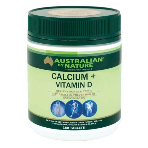 Australian by Nature 鈣1500mg +維生素D500iu 180片 ABN00628
