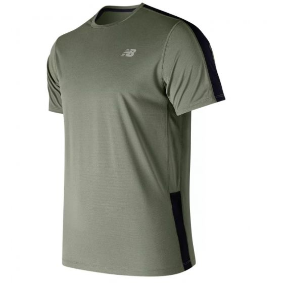 New Balance Mens AMT73061 Accelerate Short Sleeve T-Shirt Green
