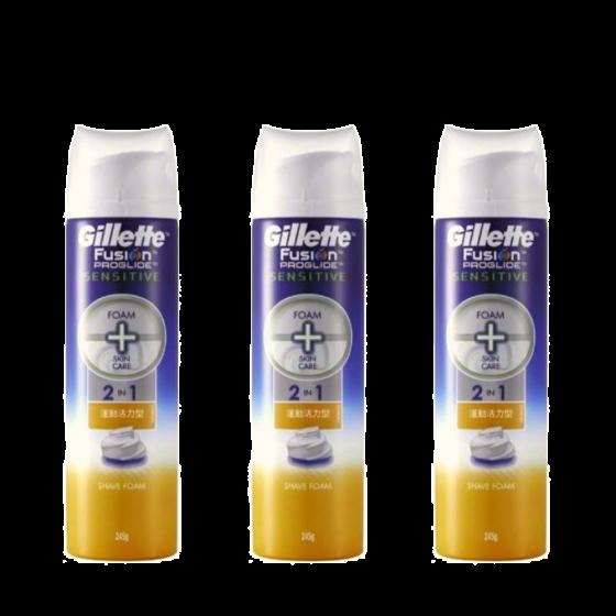 Gillette - PROGLIDE 無感系列剃鬚泡 245克(運動型)x3