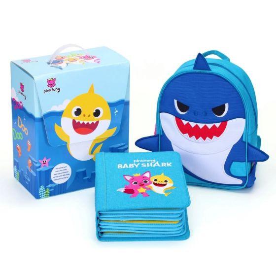 親子互動 My First Book x Baby Shark 兒童啓蒙布書 (藍色Daddy Shark)