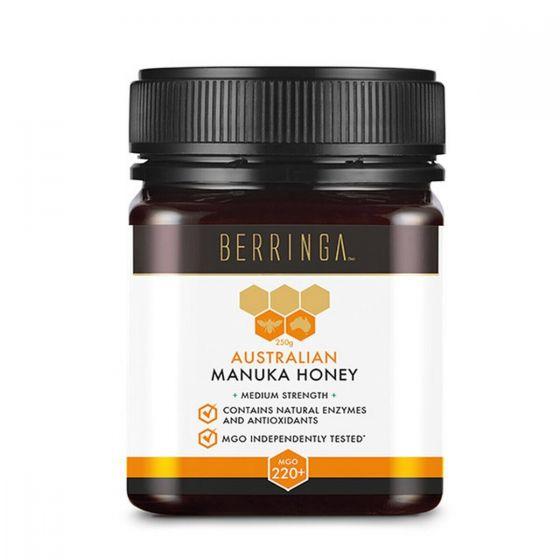 Berringa - 澳洲麥蘆卡蜂蜜 MGO220+ 特強抗菌 整體健康 (250克) BEBE004