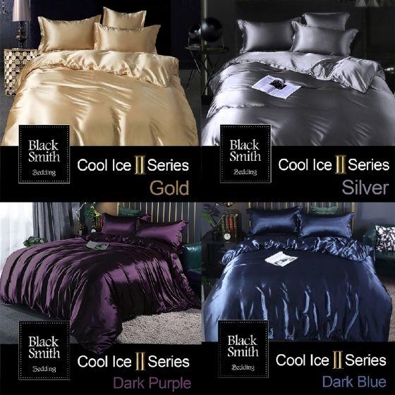 Black Smith - 冰絲綿床品套裝(單人/雙人/加大/特大) (6色可選) BS_M043_SET