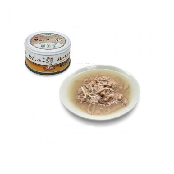 吶一口 - 貓湯罐 (呑拿魚 + 白飯魚) 80g BTTC-405