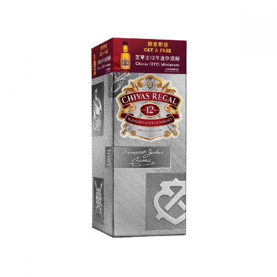 Chivas - 芝華士 12 年蘇格蘭威士忌 70cl x 1 支 (連芝華士 12 酒辦)  CHIVAS12BOX
