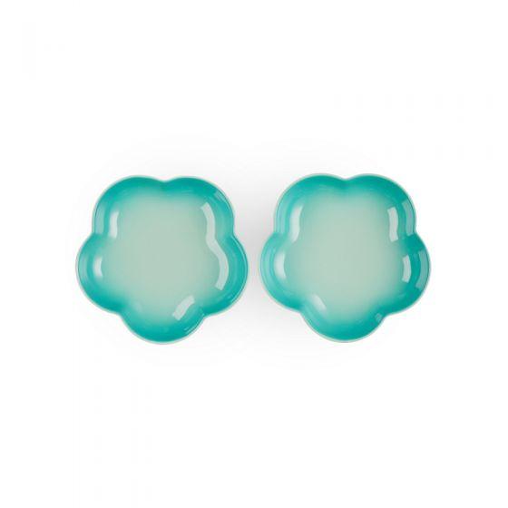Le Creuset陶瓷花形盤(中)2件裝 CR-CNY21-LCFlower