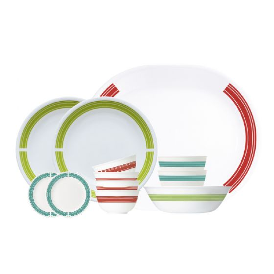 Corelle Brands 餐具套裝 (12件) ( 經典旅途) CR-TSELCB-ML12