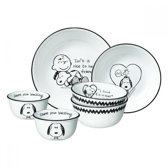 Corelle Brands 餐具套裝 (6件裝) (Snoopy Bold ) CR-TSELCB-SBS6