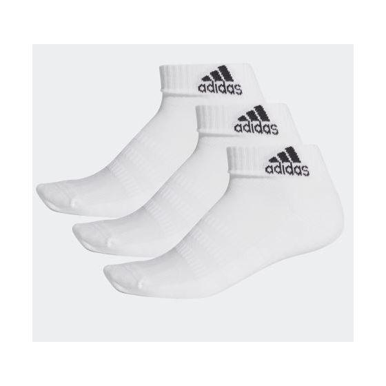 adidas CUSHIONED 船襪 (3對) - 白色
