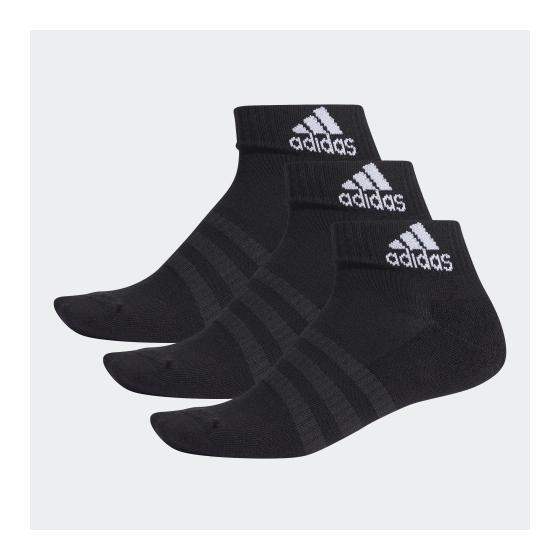 adidas CUSHIONED 船襪 (3對) - 黑色 DZ9379