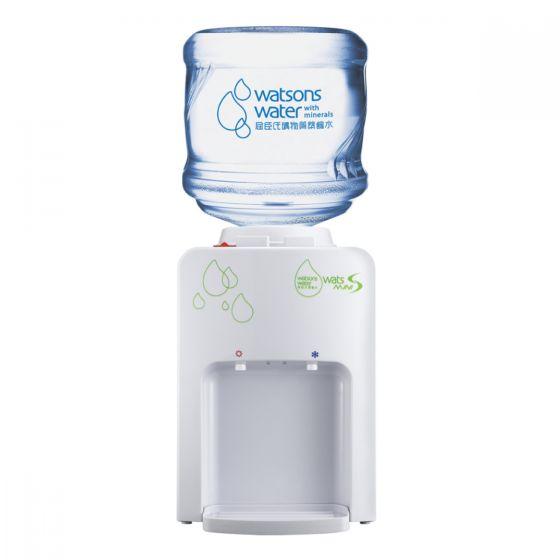 屈臣氏蒸餾水 - Wats-MiniS 座檯式冷熱水機 (白) +12公升家庭裝蒸餾水(電子水券) EA034021W6J