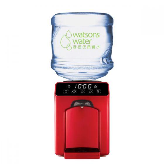 屈臣氏蒸餾水 - Wats-Touch Mini 溫熱水機 (紅) +12公升家庭裝蒸餾水(電子水券) EA034081R40J