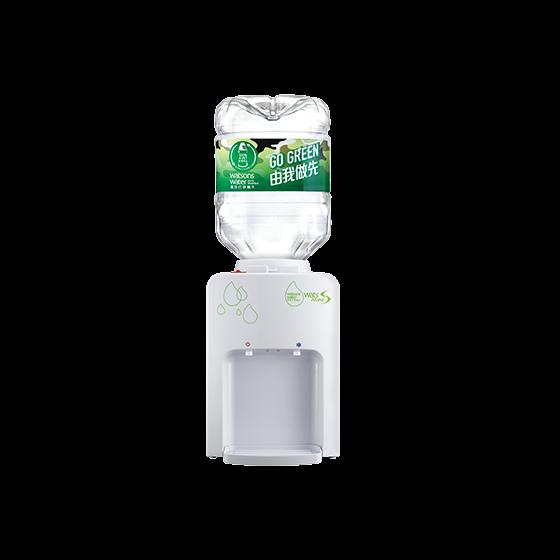 屈臣氏蒸餾水 - 家居水機 - Wats-MiniS 座檯式溫熱水機 (白) + 8公升樽裝蒸餾水 x 4樽(電子水券) EA034091W2I