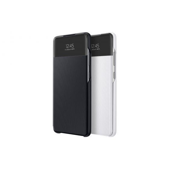 Samsung Galaxy A52 S View 透視感應保護套 (黑色/白色)