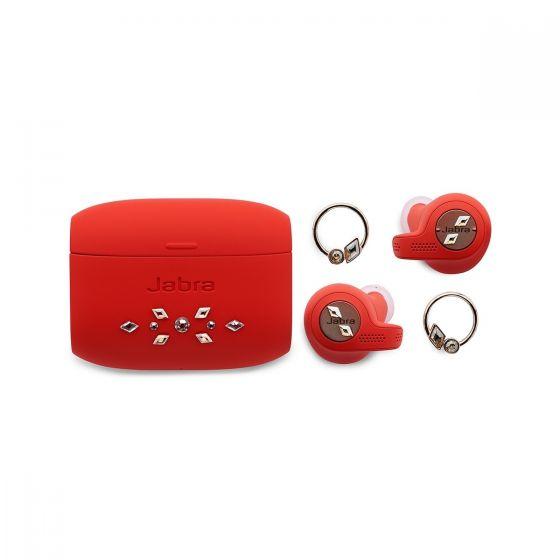 Jabra Elite Active 65t 真無線藍牙5.0耳機 (Swarovski®元素的水晶限量版耳機+耳環套裝) (銅紅色) ELITEACTIVE65T_RDSW