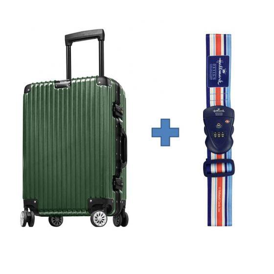 [送Hallmark 行李帶]Hallmark Design Collection 4輪26吋金屬鋁框喼行李箱(綠色)(HM844FT)
