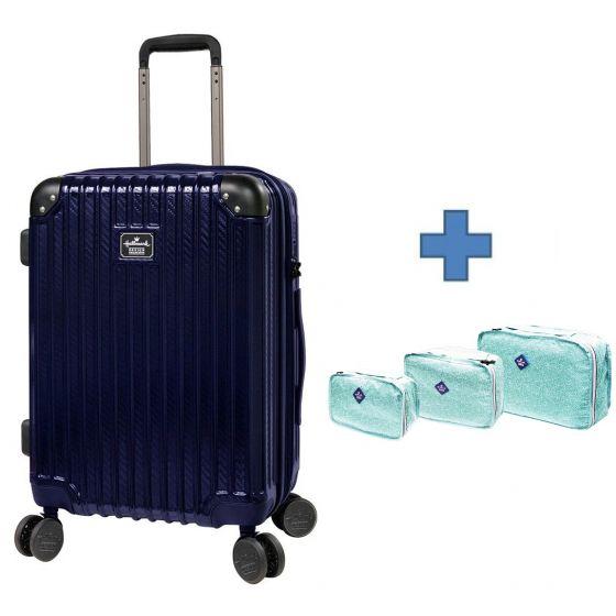 [送收納袋套裝] Hallmark Design Collection Pc Case 4輪20吋行李箱 (藍色)(HM850T)