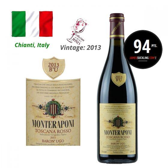 Monteraponi - Toscana Rosso Baron' Ugo IGT 2013 (JS 94) 意大利紅酒 ITMO03-13