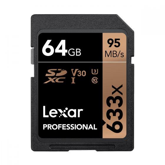 Lexar - Professional 633X SDHC UHS-I 記憶卡 - 64GB LSD64GCB1AP633