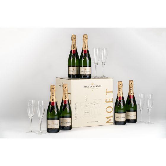 Moet & Chandon -  Brut Imperial 75cl派對禮盒 (6 支 + 6 隻杯)