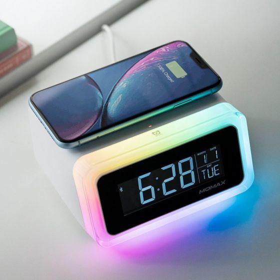 Momax - Q. Clock 2 幻彩鬧鐘連藍牙喇叭無線充電座 (QC2) MOMAX_QC2