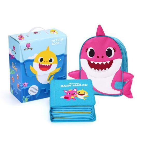 親子互動 My First Book x Baby Shark 兒童啓蒙布書(粉紅色 Mommy  Shark)