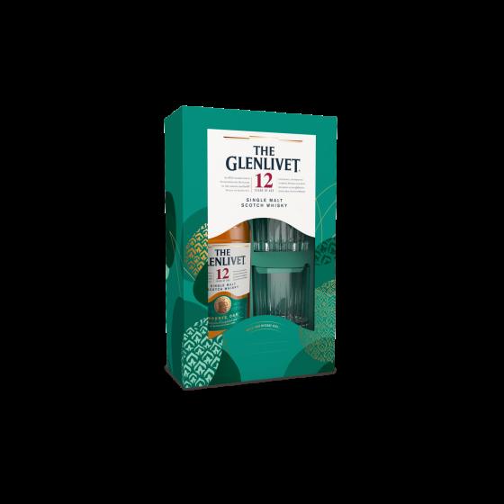 The Glenlivet 格蘭利威 Single Malt Scotch Whisky 套裝 (連2杯)