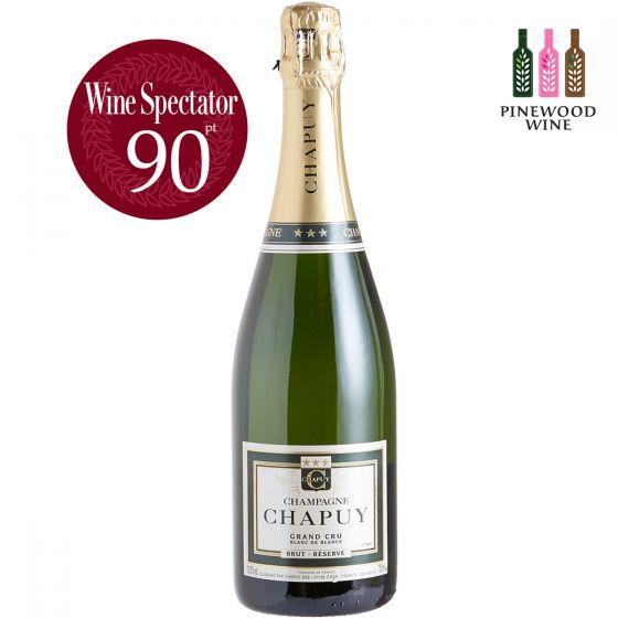 查普王珍藏白中白香檳 Chapuy Brut Reserve Blanc de Blancs Grand Cru, WS 90  (Magnum 1.5L)