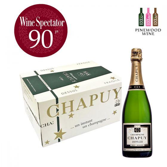 [原箱]Brut Reserve, Blanc de Blancs, Grand Cru 查普王珍藏白中白香檳 WS 90 -6 支