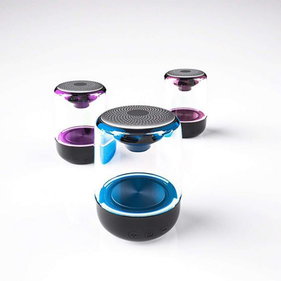 日本TSK - LED水晶琉璃鬧鐘喇叭無線藍牙音箱 P2813