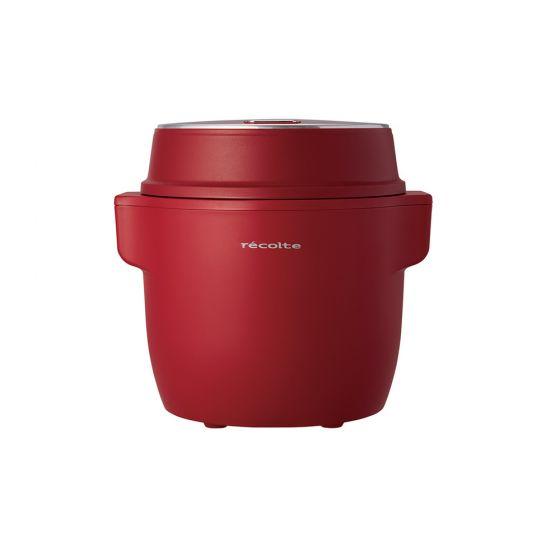 [預售] recolte - Compact 電子鍋RCR-1(R) (預計於8月5日起開始派送)(贈送Festino音波智能導入儀-粉紅色)RCR-1R