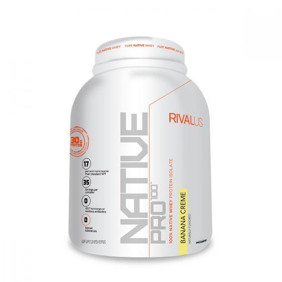 Rivalus 源生分離乳清蛋白粉2.5磅 - 香蕉 RVLNP100NPBANA25LBS