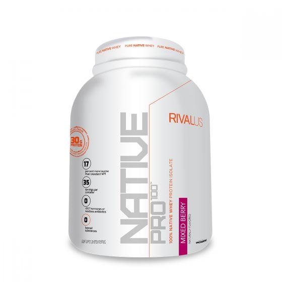 Rivalus 源生分離乳清蛋白粉2.5磅 - 混合莓 RVLNP100NPMBER25LBS