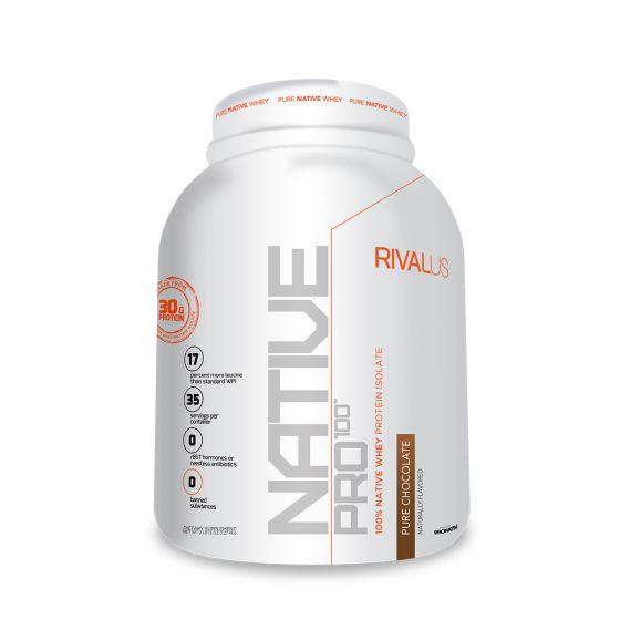 Rivalus 源生分離乳清蛋白粉2.5磅 - 純朱古力 RVLNP100NPPCHO25LBS