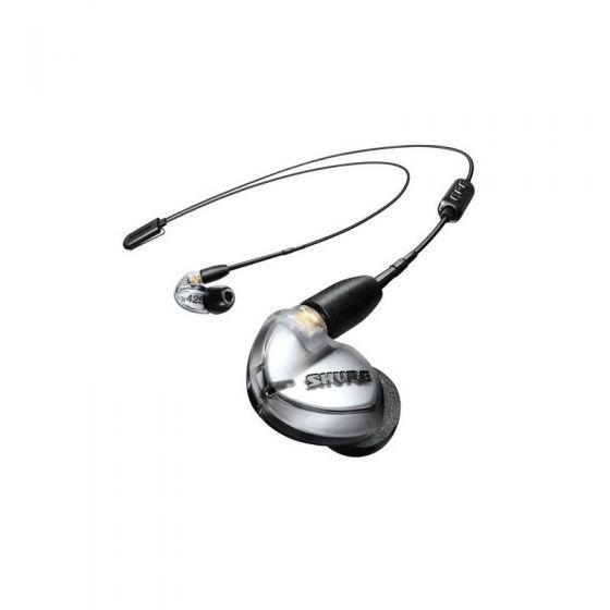 Shure 雙單元專業級監聽隔音耳機 (附RMCE-BT2 藍牙5.0耳機線版) SE425 (銀色) SHURE_SE425_VBT2A